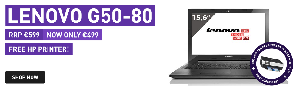 Lenovo Essential G50-80 + Free HP Envy 5530 inkjet printer