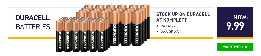Duracell Batteries 24-pack - AAA or AA now 9.99