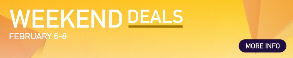 WeekendDeals - January 30 - February 1