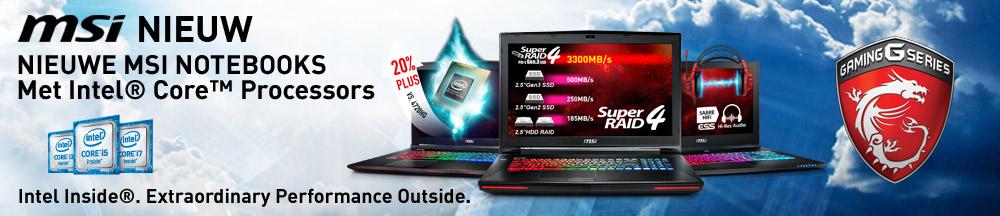 MSI Gaming laptop muis actie